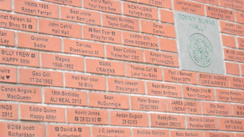 Brick Wall at Celtic FC